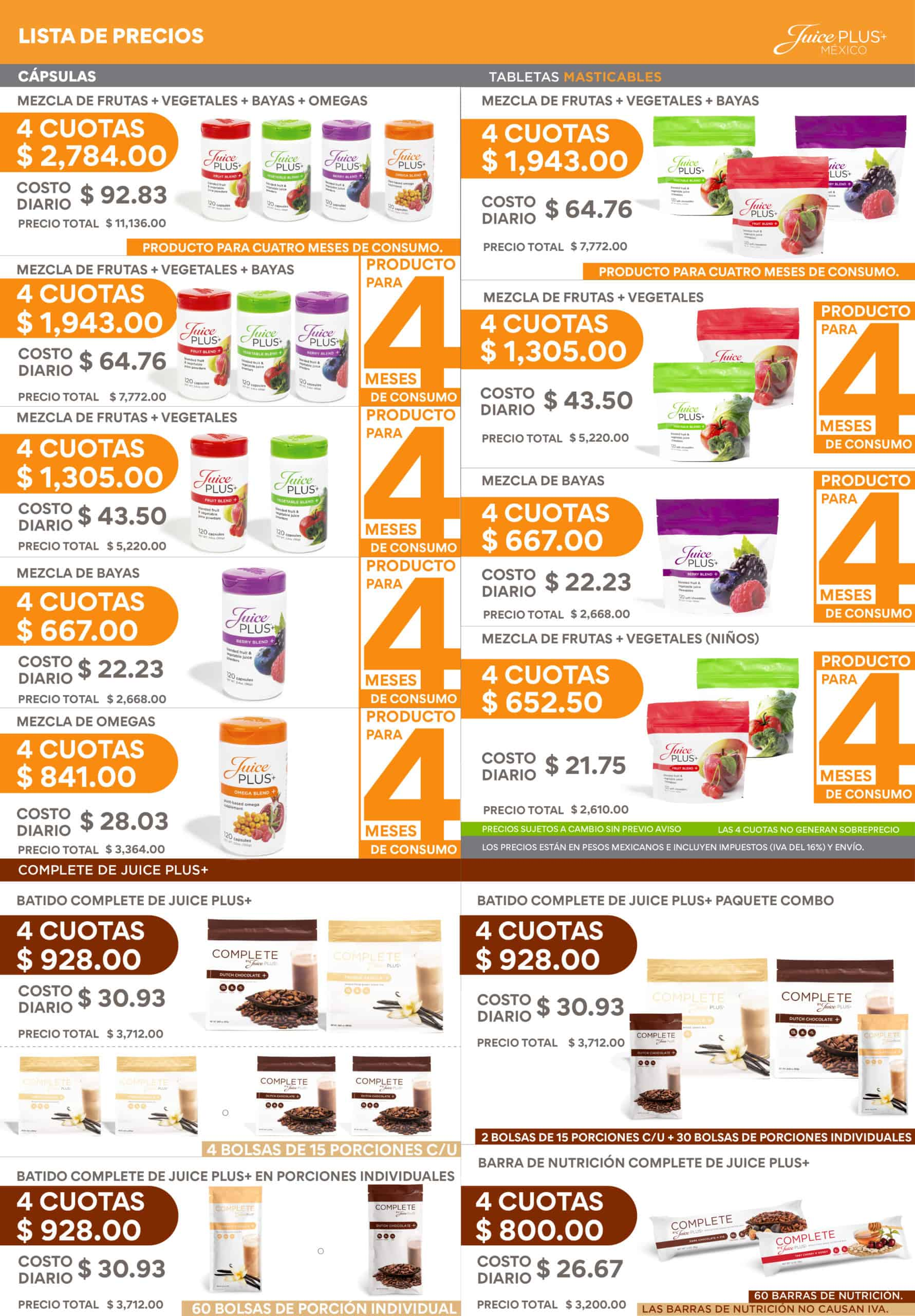 NEW 4/15/21 Price List MX